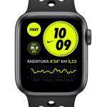 Apple Watch Nike Series 6 (GPS + Cellular) med Nike Sportsrem 44 mm urkasse i Space Gray aluminium Sort