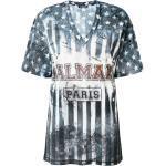 Balmain T-shirt med U.S.A. tryk - Blå