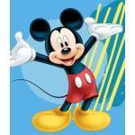 Børnetæppe - Mickey Mouse - 120x140 cm - Blødt og lækkert Fleece tæppe - Borg Living