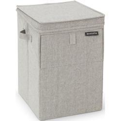 Brabantia stabelbar vasketøjskurv 35 liter Lysegrå