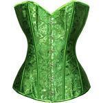 Bslingerie® Women's Brocade Bustier Corsage - Green, size: l