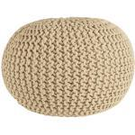 Cotton strikket puf - Creme Ø55 cm