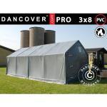 Dancover Lagertelt PRO 3x8x2x2,82m, PVC, Grå