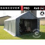 Dancover Lagertelt PRO 4x6x2x3,1m, PVC, Grå