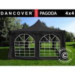 Dancover Partytelt Festtelt Pagoda 4x4m, Sort