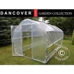 Dancover Polytunnel Drivhus SEMI PRO Plus 4x15x2,40m, Transparent