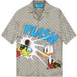 Disney x Gucci Donald Duck print silk bowling shirt