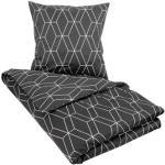 Dobbelt sengetøj 200x200 cm - Black Chain - Sort - 100% Bomuldssatin