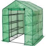 Drivhus med presenning, firkantet - grøn