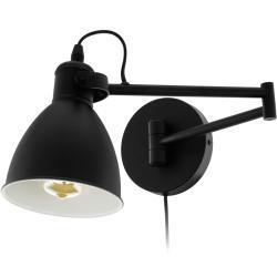 EGLO LED-væglampe San Peri stål sort