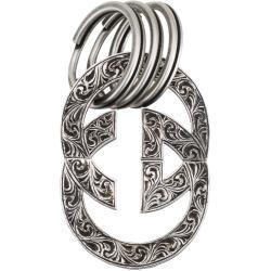 Engraved Interlocking G keychain