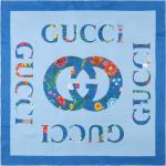 Flora Gucci vintage logo print silk scarf