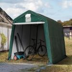 Garagetelt 2,4x3,6 m, PE 260g/m², mørkegrøn