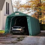 Garagetelt 3,3x4,8 m - inkl. statiske beregninger, PVC 550, mørkegrøn