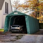 Garagetelt 3,3x6,0 m - inkl. statiske beregninger, PVC 550, mørkegrøn