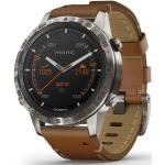 Garmin MARQ™ Adventurer smartwatch armbåndsur i titanium med brun læderrem