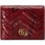 GG Marmont python card case wallet