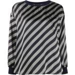 Giorgio Armani bluse med diagonale striber - Sort