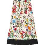 Gucci Flora nederdel med slangetryk - Flerfarvet