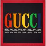 Gucci Gucci Cities print silk scarf - Sort