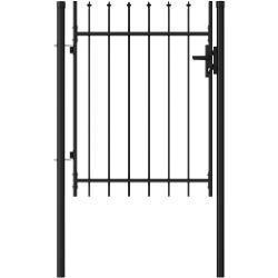 Hegnslåge med spydtop stål 1 x 1,2 m sort