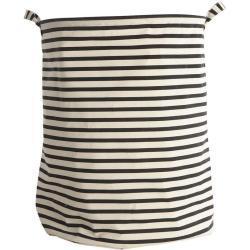 House Doctor vasketøjskurv stripes sort-hvid