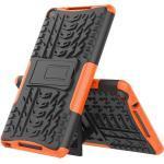 Huawei MediaPad M5 Lite 8 Håndværker Cover - Slim 2-in-1 Cover - Sort / Orange
