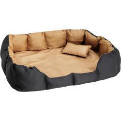 Hundeseng i polyester - sort/brun