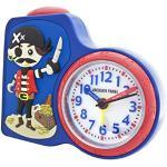 Jacques Farel ACB715PI-G Pirate Alarm Clock Boy Children's Alarm Clock Plastic Analogue Light Alarm Pirate Alarm Clock White