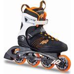 K2 Alexis 80 30A0104.1.1 Women's Inline Skates ABEC 5 Bearings 80 mm Wheels 80A Softboot Orange / White / Black, 36 EU