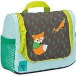 LÄSSIG Toiletry Bag with Name Plate Wash Bag Children's Mini Wash Bag Little Tree Multicolour