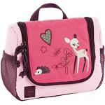 LÄSSIG Toiletry Bag with Name Plate Wash Bag Children's Mini Wash Bag Little Tree Pink
