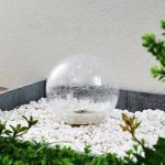 Lindby Feodoria LED-jordspyd med solcelle Ø 19,5cm