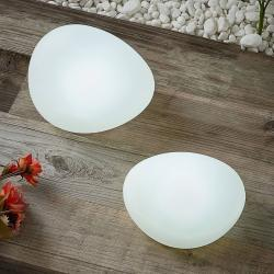 Lindby Pebbla solcelle-dekorationslampe, sæt med 2