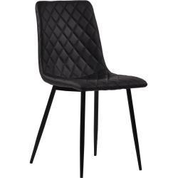Line - Sort kunstlæder stol
