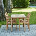 Mandalay Cambridge havemøbelsæt med 4 York stole - Teak