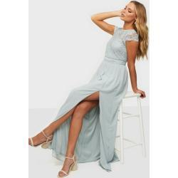 NLY Eve Make Me Happy Gown Maxikjoler Dusty Blue