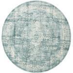 Ø 300 Rundt Tæppe Jacinda Orientalsk Vintage Lysegrå/Turkis Blå Stort