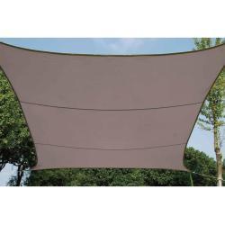 Perel solsejl firkantet 3,6 m gråbrun GSS4360TA