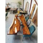 Plankebord - Amerikansk valnød med epoxy - 95 x 280 cm