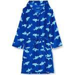 Playshoes Kids' Fleece Shark Bathrobe with Hood, Fluffy Dressing Gown for Boys - 86/92