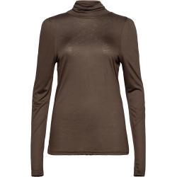 Pzcarla T-Shirt Langærmet T-shirt Brun Pulz Jeans