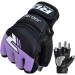 RDX Kids RDX Maya Hide Leather MMA Grappling Gloves UFC Cage Fighting Sparring Glove Training