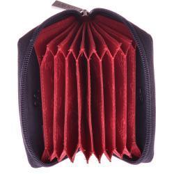 RFID Kortholder pung med lynlås Navy Blue læder Mala Leather origin