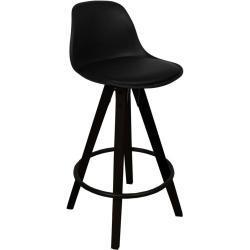 Rob - Sort barstol 65 cm (Barstol til køkkenbord)