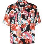 Saint Laurent skjorte med korte ærmer og Hawaii-tryk - Sort