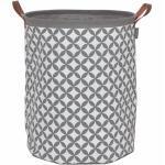 Sealskin vasketøjskurv Diamonds grå 60 l 362302012