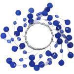 Serviet ring med blå sten- Ø 10 cm