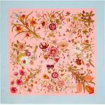 Silk scarf with Flora print