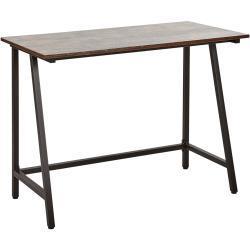 Skrivebord 100x50 cm Mørkt Træ/Sort VILSECK